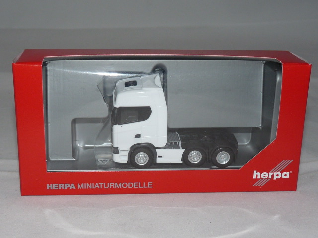 Herpa 307543 Scania CS 20 HD 6×2 Zugmaschine – weiß NEU + OVP