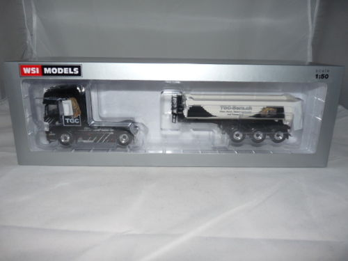 WSI 01-1810 Scania R6 Topline 4x2 Halfpipe Kipper-Sattelzug - TGC Bern 1:50