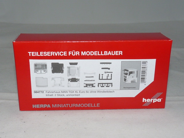 HERPA 1:87//H0 LKW Fahrerhaus MAN TGX XXL Euro 6c ohne Windleitblech #084758 2