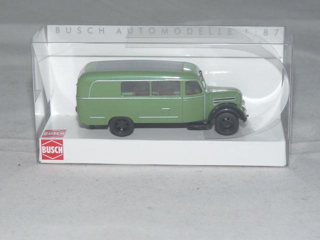 """Kombi /"""" grün /"""" HO 1:87 NEU Busch 51850 Robur Garant K 30 Bus"""