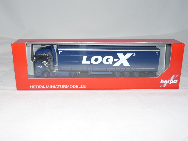 "Herpa 1:87 310413 SCANIA CS 20 HD LOWLINER-autoarticolati /""log-x//i /'m the best/"" CZ"