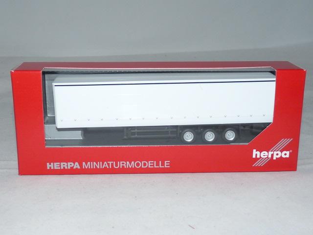 Herpa 076944-1//87 Gardinenplanen-Auflieger mit Bordwänden Neu