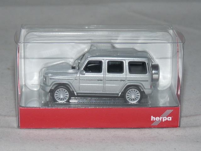 Herpa 430760-1//87 Mercedes-Benz G-Klasse mit AMG-Felgen iridiumsilber met.