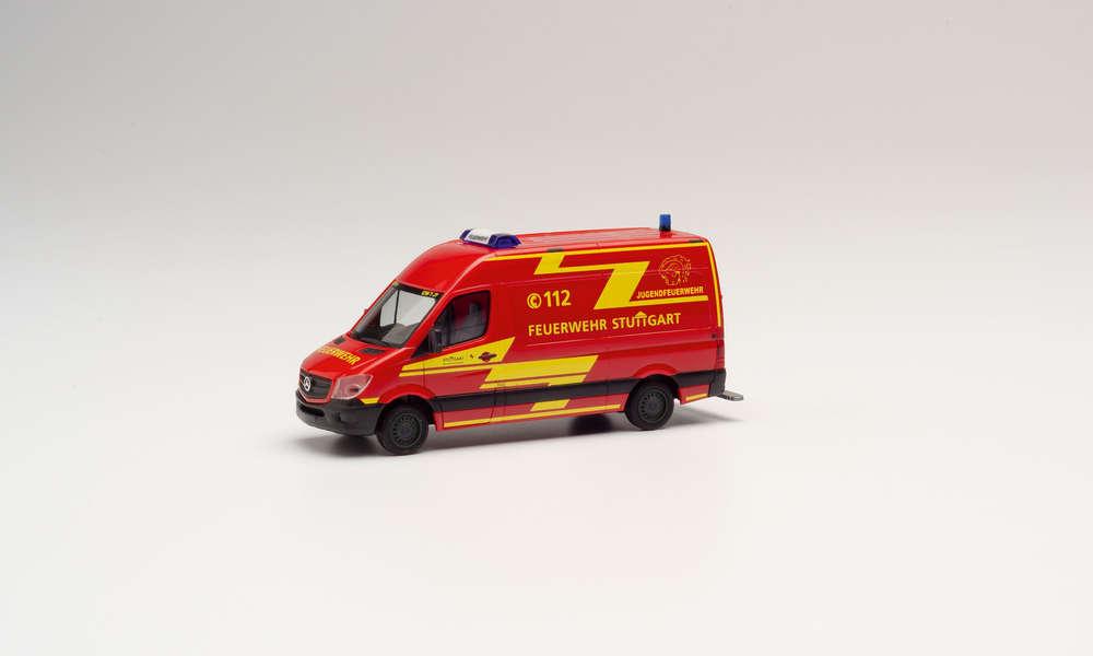 Herpa MB Sprinter '13 Kasten Feuerwehr Stuttgart Jugendfeuerwehr 095457