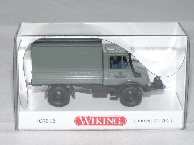 Wiking 037502 h0 Camion Unimog U 1700 L Deutsche Bundespost