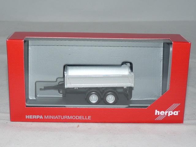 silber Herpa 076975-1//87 Tandem-Baukipper-Anhänger Meiller Neu